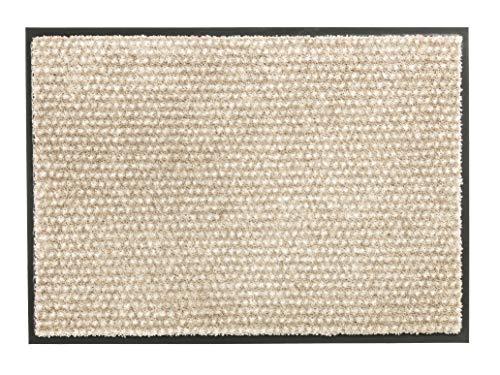 Schöner Wohnen Colección strapazierfähige Schmutzfangmatte Miami - getuftete Fußmatte en 3 tamaños waschbarer Sauberlauf, poliamida, Puntos beige, 50 x 70 cm