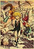 Cuadro en Lienzo Impresión Tejido no Tejido Anime japonés Los siete pecados capitales 30x42cm Sin marco Cuadros en Lienzo Decoracion