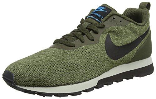Nike Sneaker MD Runner 2 Eng, Zapatillas para Hombre, Multicolor (Cargo Khaki/Black-Lt 301), 47.5 EU