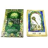 SUCHUANGUANG Fairy Tale Lenormand Tarot 38 Juego de Cartas en inglés Completo Adivinación Destino Juego de Mesa Papel Art Tarot