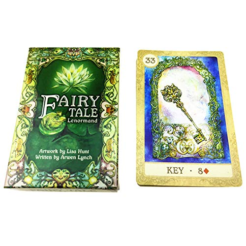 S-TROUBLE Fairy Tale Lenormand Tarots 38 Cartas Deck Full English Mysterious Adivination Fate Family Party Juego de Mesa