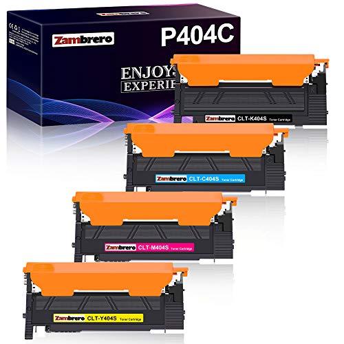 Zambrero CLT-P404C CLT-404S Kompatibler Toner Ersatz für Samsung CLT-K404S CLT-C404S CLT-Y404S CLT-M404S für Samsung Xpress SL C480W C480FW C430W C430 C430 C480 C480 C480FN C483W
