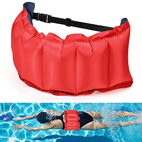 KATELUO Cintura da Nuoto, Cinture di Nuoto, Cinghia per Nuoto delle Cinture da Piscina, Cintura di Galleggiamento, Cintura gonfiabile per nuotare, nuoto regolabile Cintura in vita per Bambini e Adulti