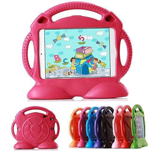 Lioeo iPad 2 Case Silicone iPad Case iPad 3 4 for Kids New Cool Sturdy Carrying Handle Case for Apple iPad 2 3 4 9.7 Inch Screen - Not for ipad Air or ipad Mini (Rose Pink)