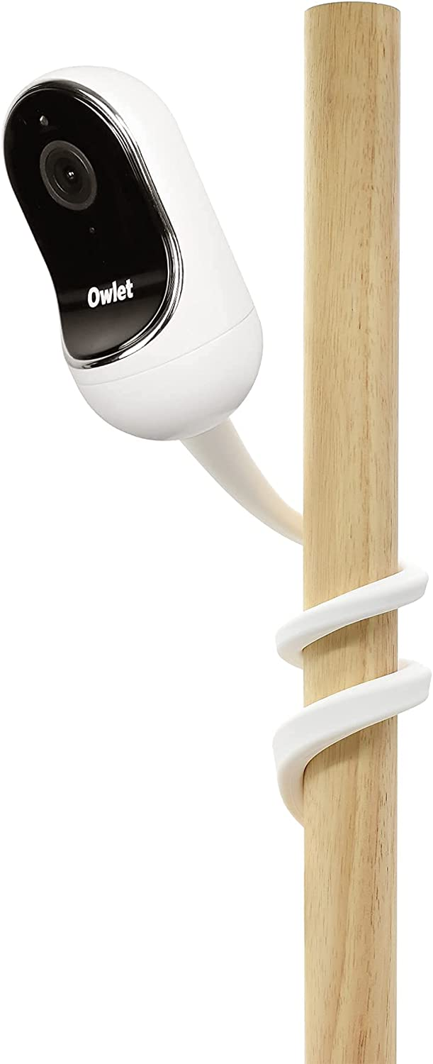 Aobelieve Flexible Twist Mount for Owlet Duo Baby Monitor and Owlet Cam, White