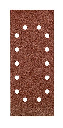 kwb Quick-Stick Schleifpapier – für Schwing-Schleifer K 40, K 80, K 120, K 180, für Holz und Metall, 115 mm x 280 mm, Korund, gelocht (30 Stk.)