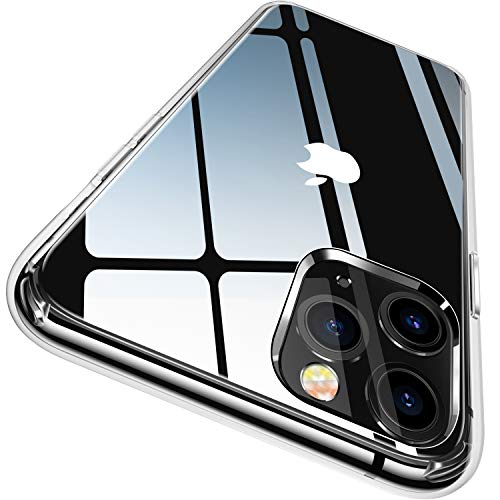CASEKOO Crystal Clear Compatible with iPhone 11 Pro Max Case, [Anti-Yellowing] Shockproof Protective Hybrid Phone Cases Slim Lightweight Cover for iPhone 11 Pro Max (6.5 inch) 2019 - Crystal Clear