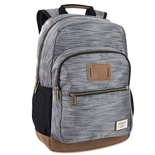 Benrus Bag - Outdoor Rucksack & Hiking and Student Flight Backpack for Men (Gray)