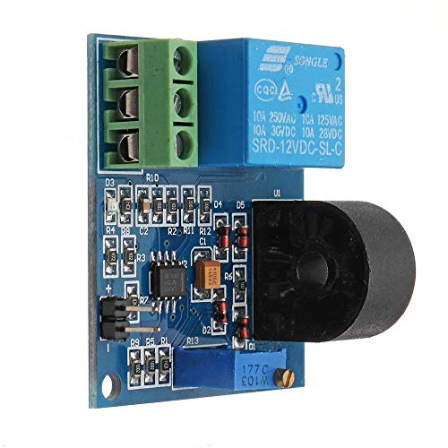 Módulo de relé, De Salida del Interruptor Módulo de relé del módulo del Sensor 1pcs DC 12V 5A de protección multifunción AC Detección de Corriente