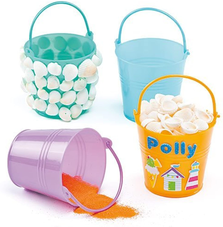 Mini Plastic Buckets - Pack of 6