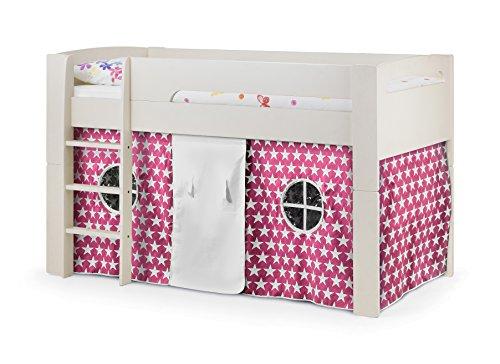Julian Bowen Pluto Midsleeper, Pink Tent & Cabin Mattress, Stone White, Single
