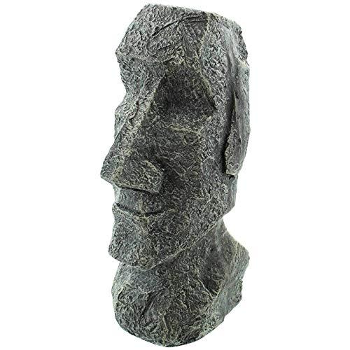 SIDCO Figur Osterinsel Moai Garten Skulptur Rapa NUI Tiki Deko Kopf Statue Gesicht