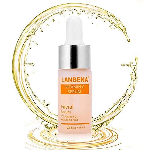 La vitamine C de sérum facial enlèvent les taches de rousseur anti-âge, l'illuminant normal anti-ride pour le visage et le cou 15ml