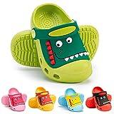 RJVW Kid's Dinosaur Clogs Slippers Girls Boys Toddlers Little Cute Garden Water Shoes Cartoon Slides Sandals Beach Shower Pool Slipper