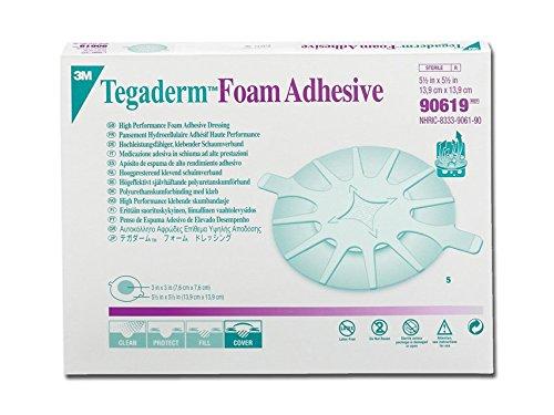 3M TegadermTM Foam Adhesive voor elleboog en hiel - cm 14 x 14 cm kleefpad van polyurethaanschuim, 5 stuks
