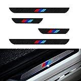 Compatible con E36 E46 E90 E91 E92 E93 M Styling Protectores de Umbral de la Puerta del Coche Fibra de Carbono Adhesiva Pegatinas 4 Piezas/Set