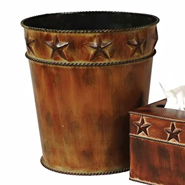Black Forest Decor Rustic Star Waste Basket