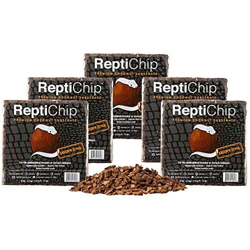ReptiChip Breeder Bundle (5 Pack) Contains 360 quarts of Premium Coconut Reptile Substrate, The Perfect Bedding for Pythons, Boas, Lizards, and Amphibians