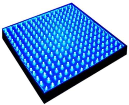 HQRP New Square 12' LED Grow Light System 225 Blue LED 14W + Hanging Kit