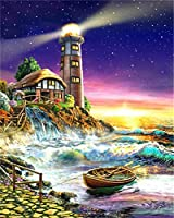 灯台の描画-3Dジグソーパズル1000ピース、大人、ティーンエイジャー、高精細印刷フロアパズルマルチカラー70X50Cmのジグソーパズルゲームアートワーク