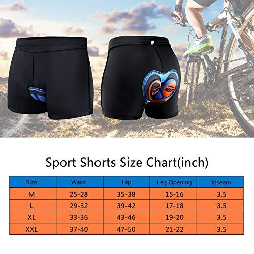 Unisex 3D Gel gepolstert Radlerhosen Fahrrad Radfahren Reiten Kurze Hose Unterwäsche Shorts Pro Bike Boxer Hohe Luftdurchlässigkeit für Radfahren Reiten M - 3