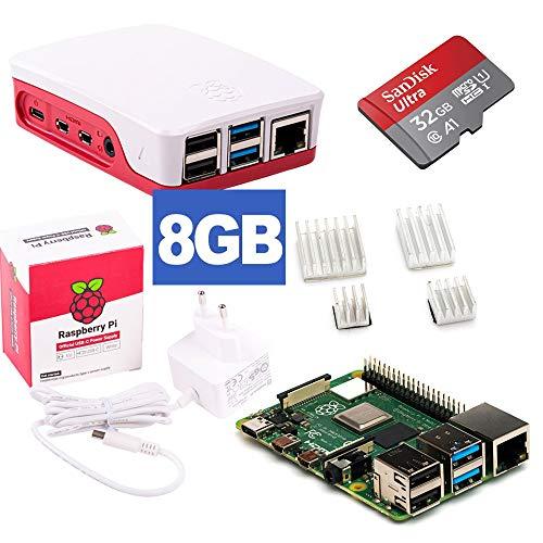 Raspberry Pi 4 Model B 8GB Desktop-Starter-Kit (32 GB, weiß)