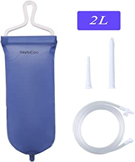 Enema Bag Kit Anal Douche for Men Women, with Silicone Hose - Reusable Home Coffee & Water Colon Cleansing/Detox Enemas, 2L Capacity