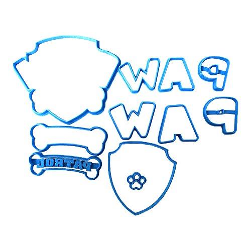 Cuticuter Paw Patrol Fondant Schneider, blau, 8x 7x 1.5cm