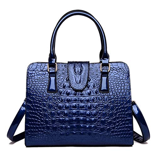 Tisdaini Bolsos de mano Mujer Bolsos bandolera Moda Bolsos totes Shoppers y bolsos de hombro ES900 Azul marino