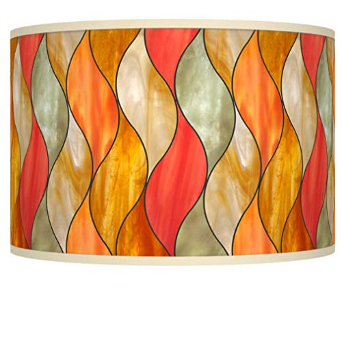 Flame Mosaic Giclee Shade 12x12x8.5 (Spider) - Giclee Glow