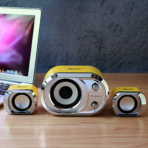 Fantastic Deal! GGGarden 3 in 1 Computer Speakers USB Power Bass Stereo Subwoofer Speaker for Phone ...