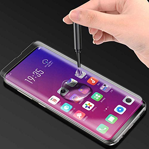 ishii 9H Curved UV Tempered Glass Designed for Oppo Find X2 (Transparent) Edge to Edge Screen Guard Featuring Full Screen Coverage with Easy Installation Kit - (Pack of 1)
