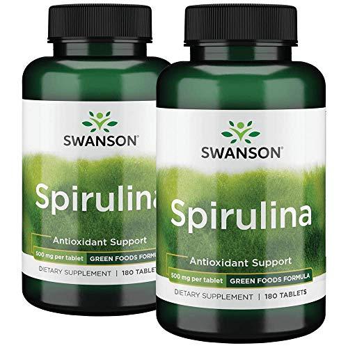 Swanson Spirulina 500 Milligrams 360 Tabs 2 Bottles