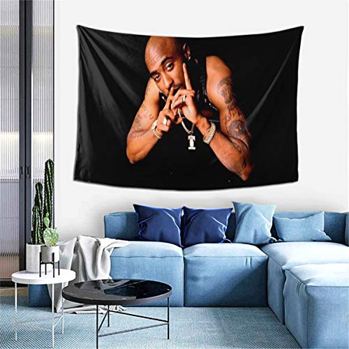 Jaon Tu-Pac Tapestry Wall Hanging Tapestries Wall Background Gift Decoration for Living Room Bedroom Dormitory Apartment (60 Inches X 40 Inches)