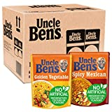 Uncle Ben's Microwave Rice Mixed Selection (Pack of 12), 6 x Golden Vegetable 250 g, 6 x Spicy...