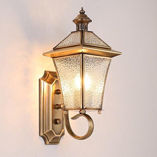 Lampade da parete Illuminazioni per pareti interni Lampada da parete in stile europeo in ottone corpo lampada da giardino, paralume in vetro diamante soggiorno camera da letto applique da parete, este
