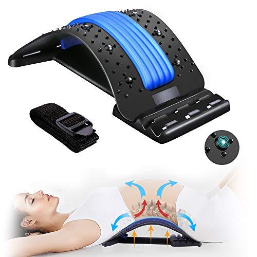 Back Stretcher, BUTHSKU Lumbar Back Pain Relief Device Multi-Level Spinal Lumbar Back Stretcher Back...