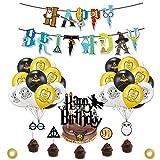 YUIP Suministros Cumpleaños Decoracion, Kit de Decoraciones de Cumpleaños de Harry Potte...