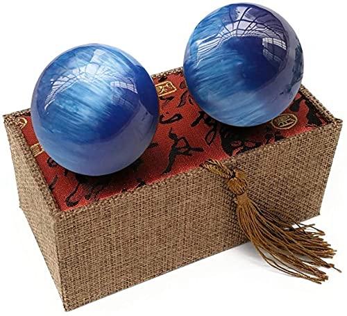 WBZ Bolas Baoding Salud Chino Masaje Balls, 50 Mm Resina Natural Dedo Masaje Masaje Meditación Balón De Balonmano Herramienta De Cuidado De La Salud,Aliviar Terapia Bola