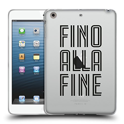Head Case Designs Oficial Juventus Football Club Fino Alla Fine Tipo Carcasa de Gel de Silicona Compatible con Apple iPad Mini 1 / Mini 2 / Mini 3