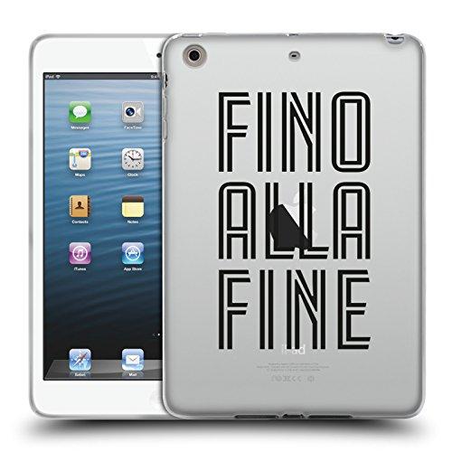 Head Case Designs Oficial Juventus Football Club Fino Alla Fine Tipo Carcasa de Gel de Silicona Compatible con Apple iPad Mini 1 / Mini 2 / Mini 3