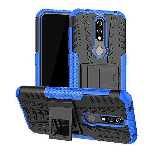 LFDZ Nokia 4.2 2019 Hülle, Abdeckung Cover schutzhülle Tough Strong Rugged Shock Proof Heavy Duty Hülle Für Nokia 4.2 2019 Smartphone(Not fit Nokia 4.1),Blau