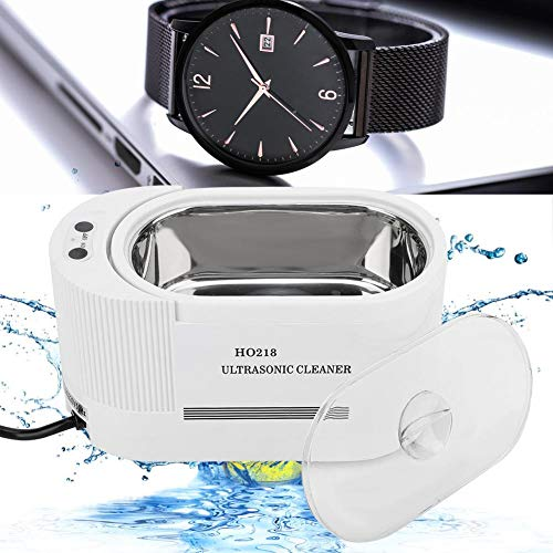 yuyte Limpiador Ultrasónico 600ML, Dispositivo de Lavado de 43000 Hz, para joyería/Relojes Impermeable/Gafas/Instrumentos dentales/Instrumentos de Laboratorio Impermeables