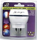 Adaptateur De Voyage France Vers Australie/Chine - Gamme Bulle- BB0128 - LTE Design -...