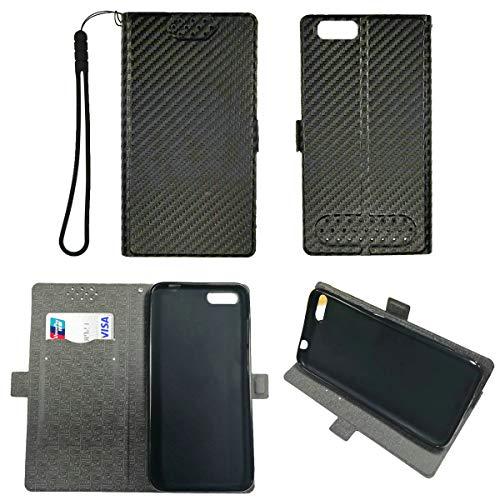 Oujietong Case for Orbic Wonder Factory 5.5 Verizon Prepaid Case TPU Flip Cover Stand Shell Black
