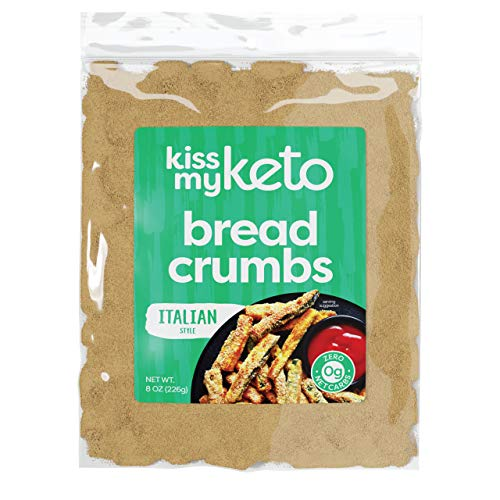 Kiss My Keto Bread Crumbs Zero Carb (0g Net) — Italian Style | Low Carb Keto Breadcrumbs | 6g Protein per Serving, Sugar Free | Low Calorie, Non-GMO & Soy Free (Pack of 1)