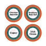 Smart Sips, Liquor Lovers Flavored Coffee Variety Sampler- Raspberry Rum Ball, Cognac, Irish Cream, Chocolate Amaretto, 24 Count for Keurig K-cup Brewers