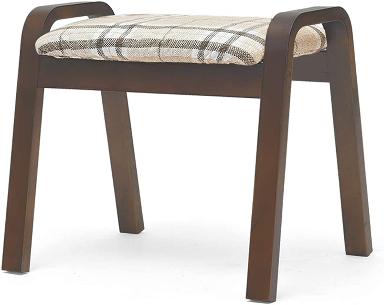 CQ Home Stool Creative Stool Living Room Adult Solid Wood Bench Fabric Stool Sofa Change shoes Bench