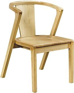 Sillas De Comedor De Cocina 2 conjuntos de sillas de comedor de madera maciza con esquinas redondeadas, sillas de comedor retro casual, todos los marcos de madera maciza, capacidad de cojinete fuerte