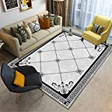 Kunsen Decoracion Comedor alfombras de Pasillo Sala de Estar Alfombra China Terciopelo Corto Caminando cómodo Antideslizante Alfombra de habitacion 120X180CM 3ft 11.2' X5ft 10.9'